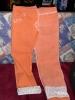 bestickte Hose in orange - Zwischenstand